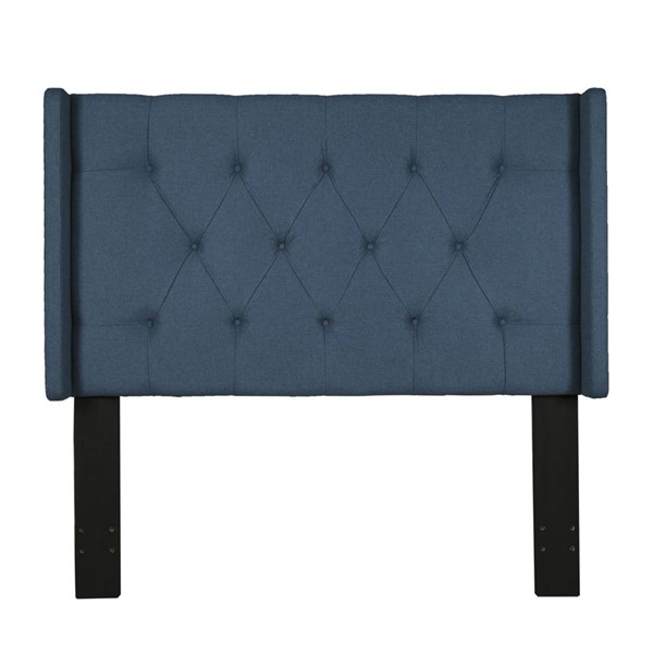 Home Meridian Blue Shelter Button Tufted King Cal King Headboard RH-320-D017-270-688