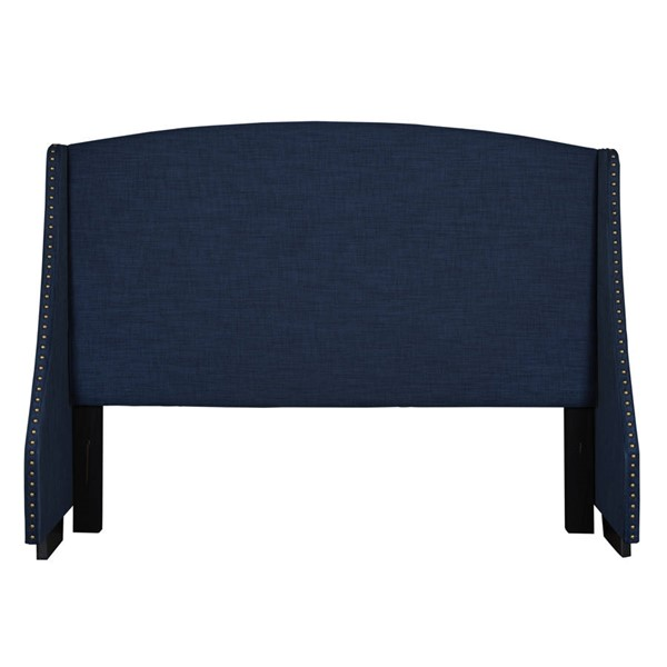 Home Meridian Navy Blue Shelter Upholstered Queen Headboard RH-320-D117-250-685