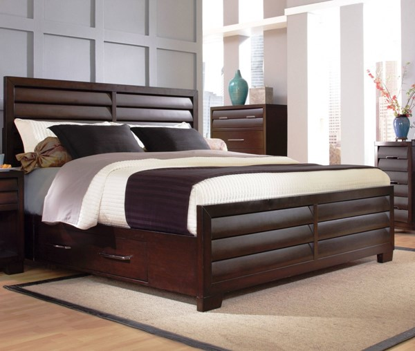 Sable Brown Hardwood Queen Storage Bed RH-330170-QB