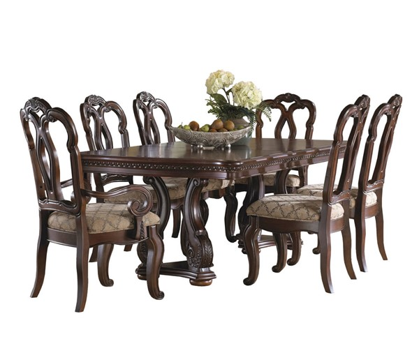 Samuel Lawrence San Marino Brown 7pc Dining Room Set RH-3530-DR-K1