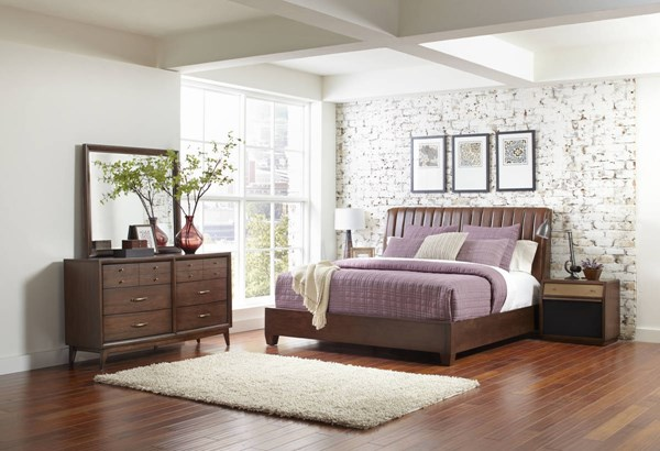 Modern Harmony Brown Wood Composites Hardwood Master Bedroom Set RH-40317-BR
