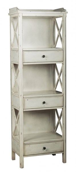 Casual White Hardwood X Side Panel Bookcase RH-549115