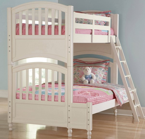 Pawsitively Yours Traditional White Wood Bunk Bed 4/6 Extension RH-634157