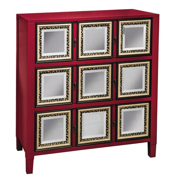 Madison Contemporary Red Wood Accent Chest RH-641113
