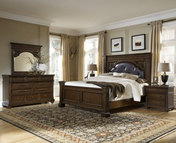 Durango Ridge Brown Hardwood Master Bedroom Set RH-6731-BR