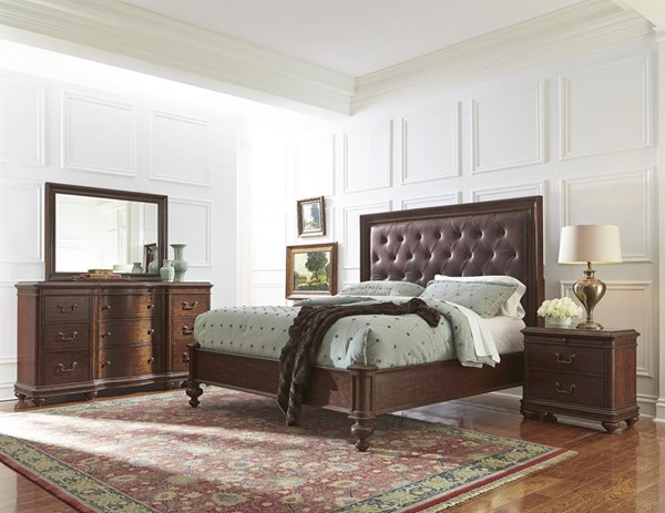 Montgomery traditional wood master bedroom set bedrooms the classy home best deal furniture for Traditional wood bedroom furniture