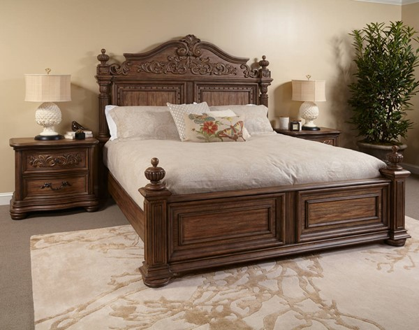 Aderdeen Traditional Brown Hardwood Solids Beds RH-7601-BEDS