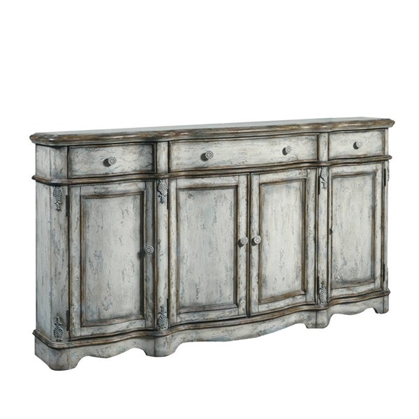 Home Meridian Grey Hardwood Vintage Distressed Credenza RH-806020