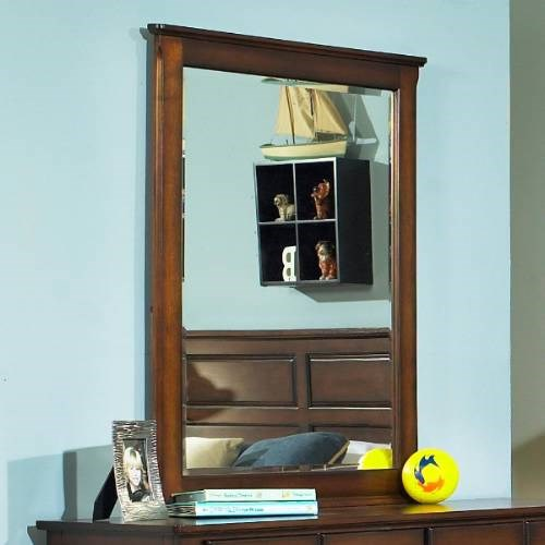 Pepper Creek Elegant Wood Glass Bedroom Mirror RH-8124-430
