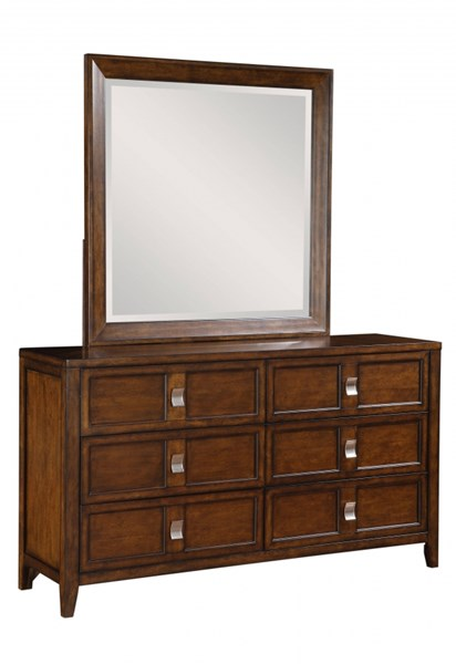 Bayfield Modern Brown Hardwood Dresser And Mirror RH-8280-DR-MR