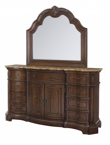 Edington Traditional Brown Hardwood Door Dresser RH-8328-015