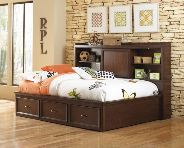 Samuel Lawrence Expedition Brown Full Lounge Bed RH-8468-BR-K13