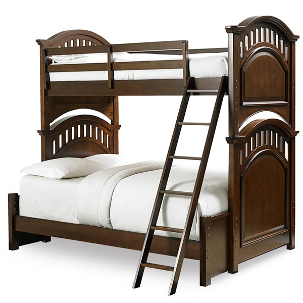 Samuel Lawrence Expedition Brown Twin Full Bunk Bed with Ladder RH-8468-BR-K20
