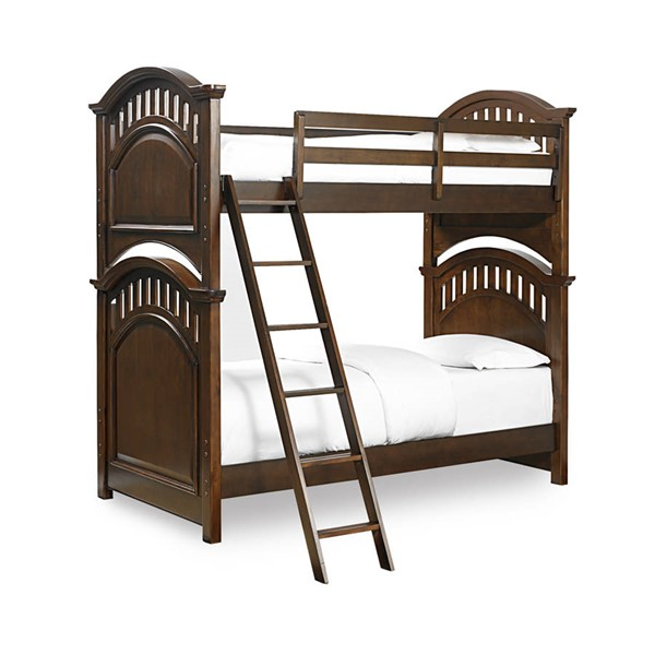 Samuel Lawrence Expedition Brown Twin Twin Bunk Bed with Ladder RH-8468-BR-K21
