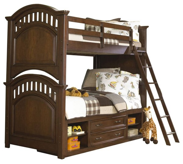 Samuel Lawrence Expedition Brown Manning Bunk Beds With Storage Trundle RH-8468-BR-BB-VAR