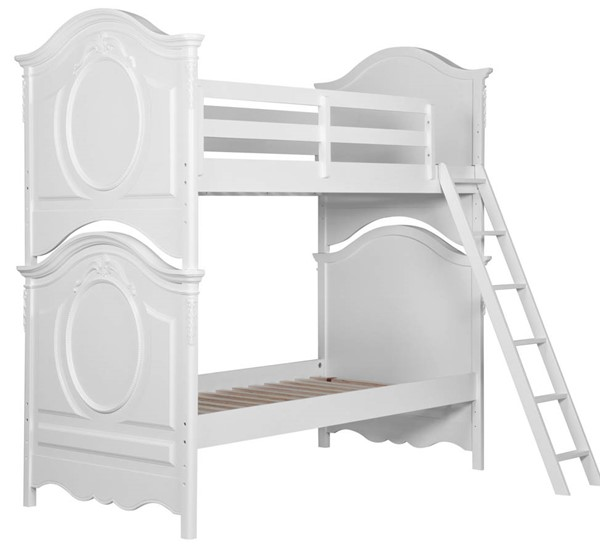 Samuel Lawrence SweetHeart Twin Over Twin Bunk Bed With Ladder RH-8470-BR-K30