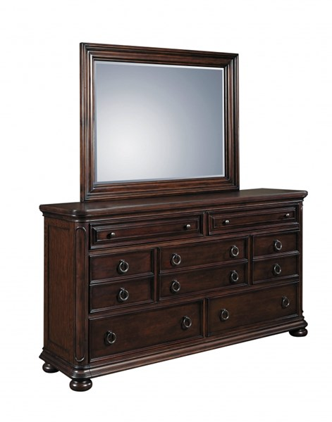 Chandler Traditional Brown Wood Glass Mirror RH-8540-030