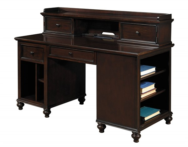Homework Casual Brown Wood 2.0 Shelf Unit Desk Base RH-8616-964