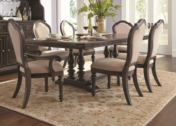 Monarch Traditional Black Wood Trestle Table Top RH-8794-131A