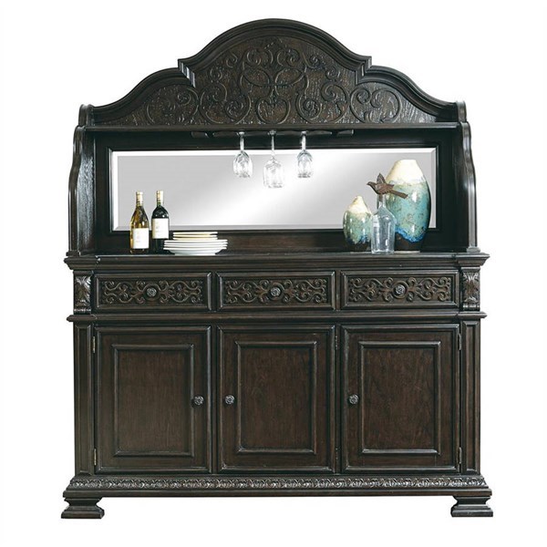 Monarch Traditional Black Wood Server w/Deck RH-8794-142-147