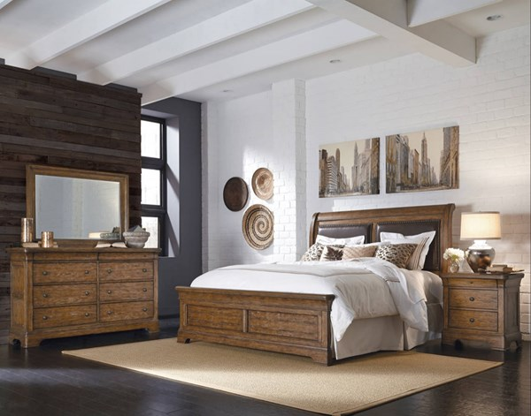 Home Meridian American Attitude Brown Master Bedroom Set RH-8854-BR