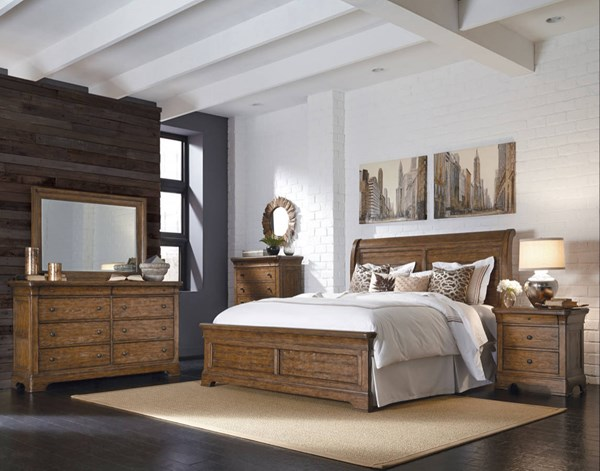 American Attitude Brown Wood Master Bedroom Set RH-8854-BR