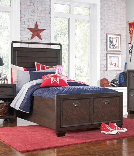 Samuel Lawrence Clubhouse Oak Twin Storage Bed RH-8872-538-T-STRG-BED