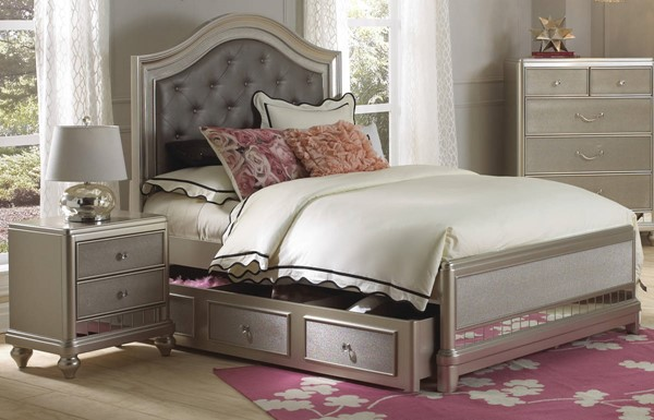 Samuel Lawrence Lil Diva Silver 2pc Kids Bedroom Set With Twin Trundle Bed The Classy Home