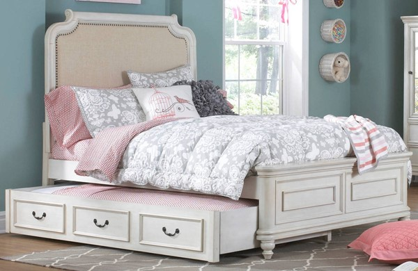 Samuel Lawrence Madison Youth White Full Bed with Trundle RH-8890-BR-K21