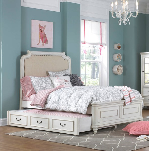 Samuel Lawrence Madison Youth White Beds with Trundle RH-8890-BR-K-TRD-BED-VAR