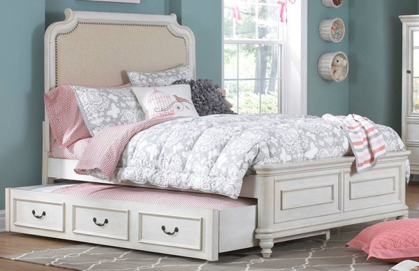 Samuel Lawrence Madison Youth White Twin Bed with Trundle RH-8890-BR-K22