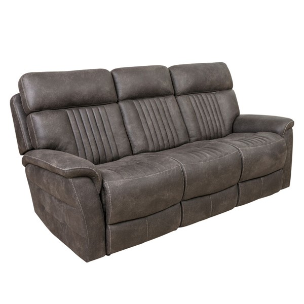 Home Meridian Gray Power Recline Sofa With Headrests RH-A612Q-405-1153