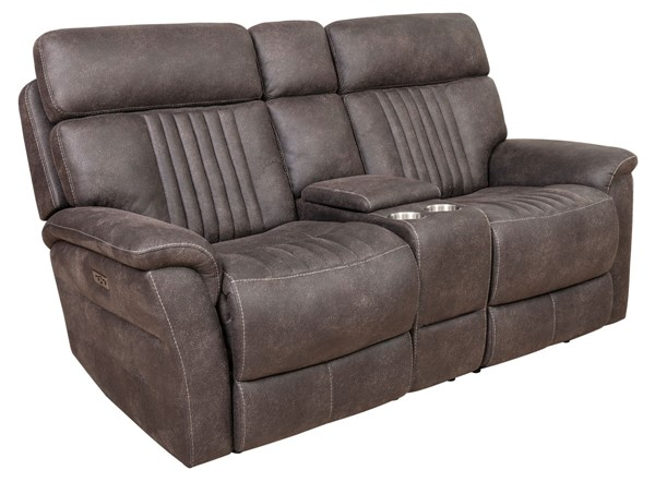 Home Meridian Gray Power Recline Loveseat With Headrests RH-A612U-305-1153
