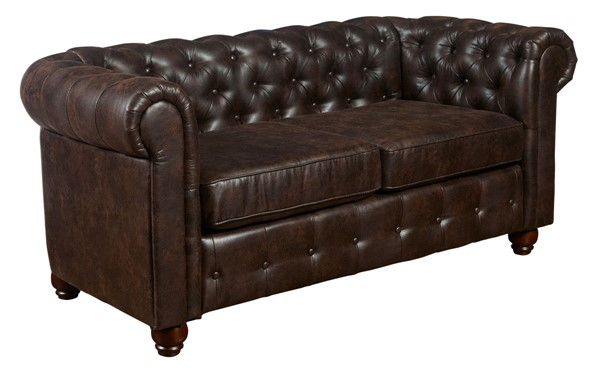 Home Meridian Brown Traditional Loveseat RH-A862-681-1115