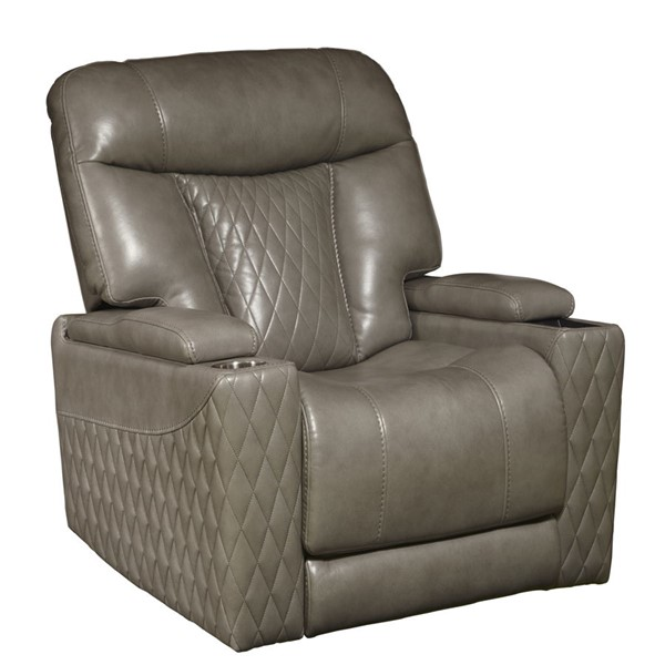 Home Meridian White Power Recliner RH-B034T-005-1298