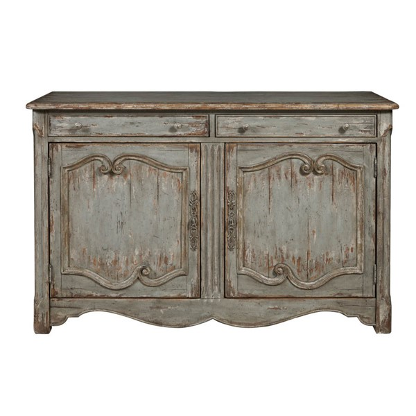 Home Meridian Blue Farmhouse Accent Wine Cabinet RH-D153-044