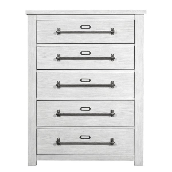 Home Meridian White Five Drawer Chest RH-D192-012