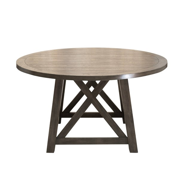 Home Meridian Brown Round Dining Table RH-D192-DR-K2