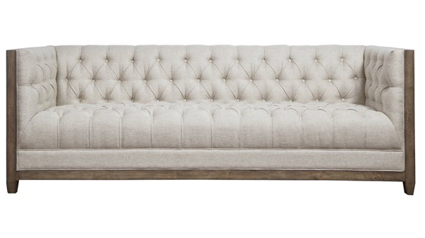 Home Meridian Beige Farmhouse Deconstructed Sofa RH-D192-705-680-923