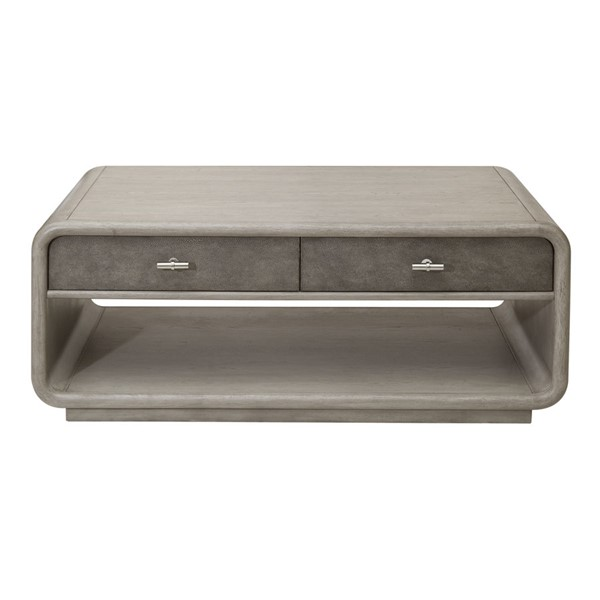 Home Meridian Grey Shagreen Oak Cocktail Table with Casters RH-D198-203