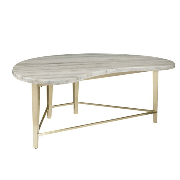 Home Meridian Urban Eclectic White Marble Top Cocktail Table RH-D198-211