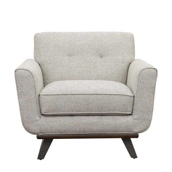 Home Meridian Beige Button Tufted Metal Base Chair RH-D198-706-682-908