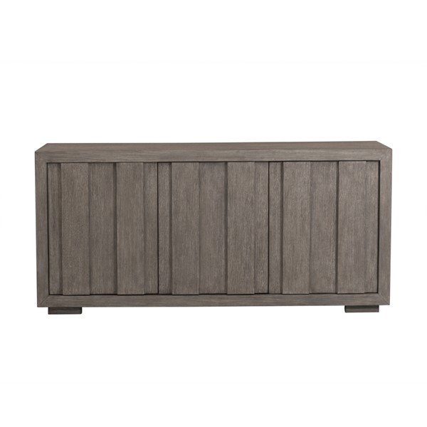 Home Meridian Weathered Brown Front Three Doors Storage Console RH-D233-100