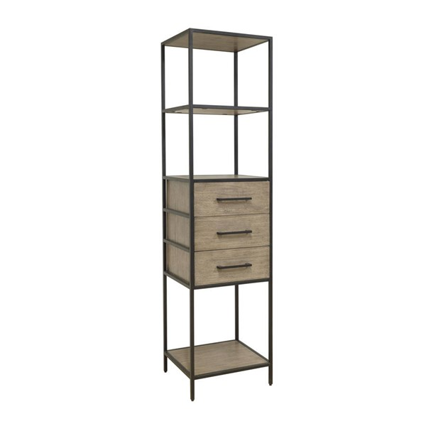 Home Meridian Brown Iron Display Cabinet RH-D324-301