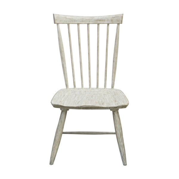 2 Home Meridian White Solid Wood Slat Back Side Chairs RH-D326-140