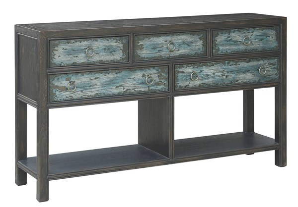 Home Meridian Two Tone Five Drawer Console RH-D361-100