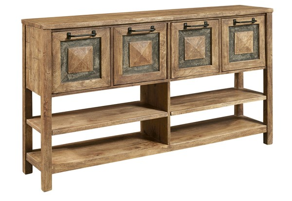 Home Meridian Brown Inserts Storage Console RH-D373-103