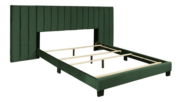 Home Meridian Green Channeled Wall King Bed RH-D423-291-2