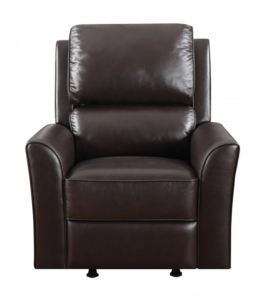 Brown Wood Metal Leather Vinyl Rocker Recliner RH-DS-1123-007-762