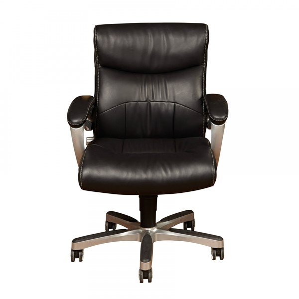 Contemporary Black Bonded Leather Swivel Base Arm Office Chair RH-DS-1942-452-4